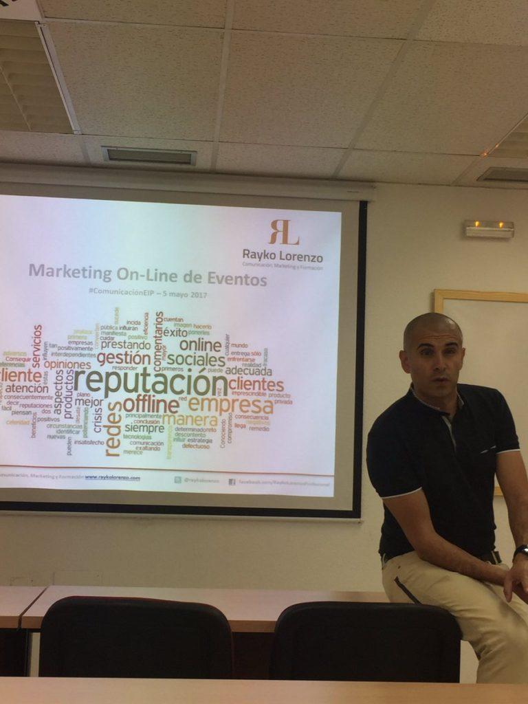 Conferencia de redes sociales en eventos con Rayko Lorenzo