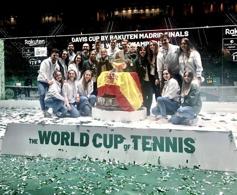 10 alumnos de EIP Madrid colaboran con el departamento de protocolo responsable de la Copa Davis