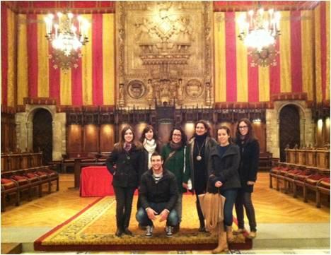 Visita alumnos de postgrado al Ayuntamiento de Barcelona