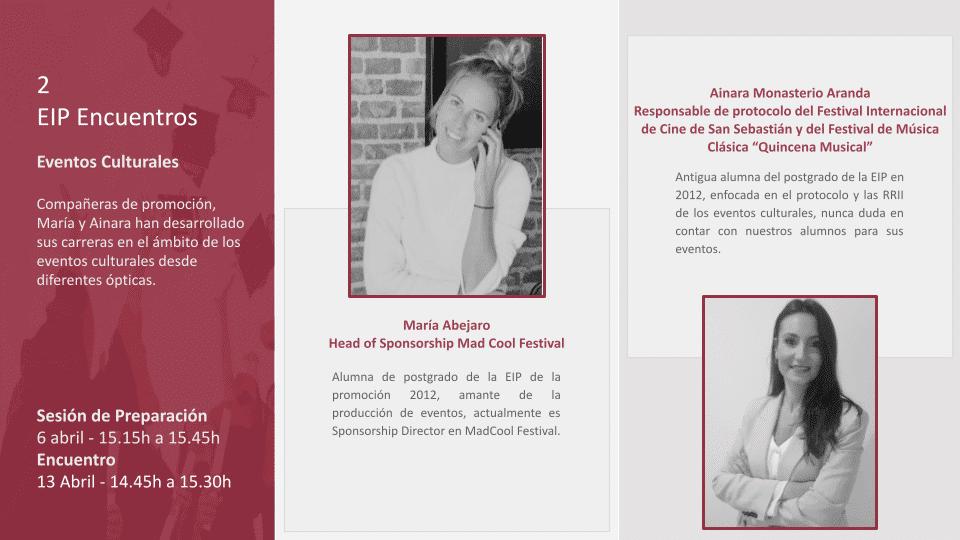eventos culturales con Ainara Monasterio y María Abejaro