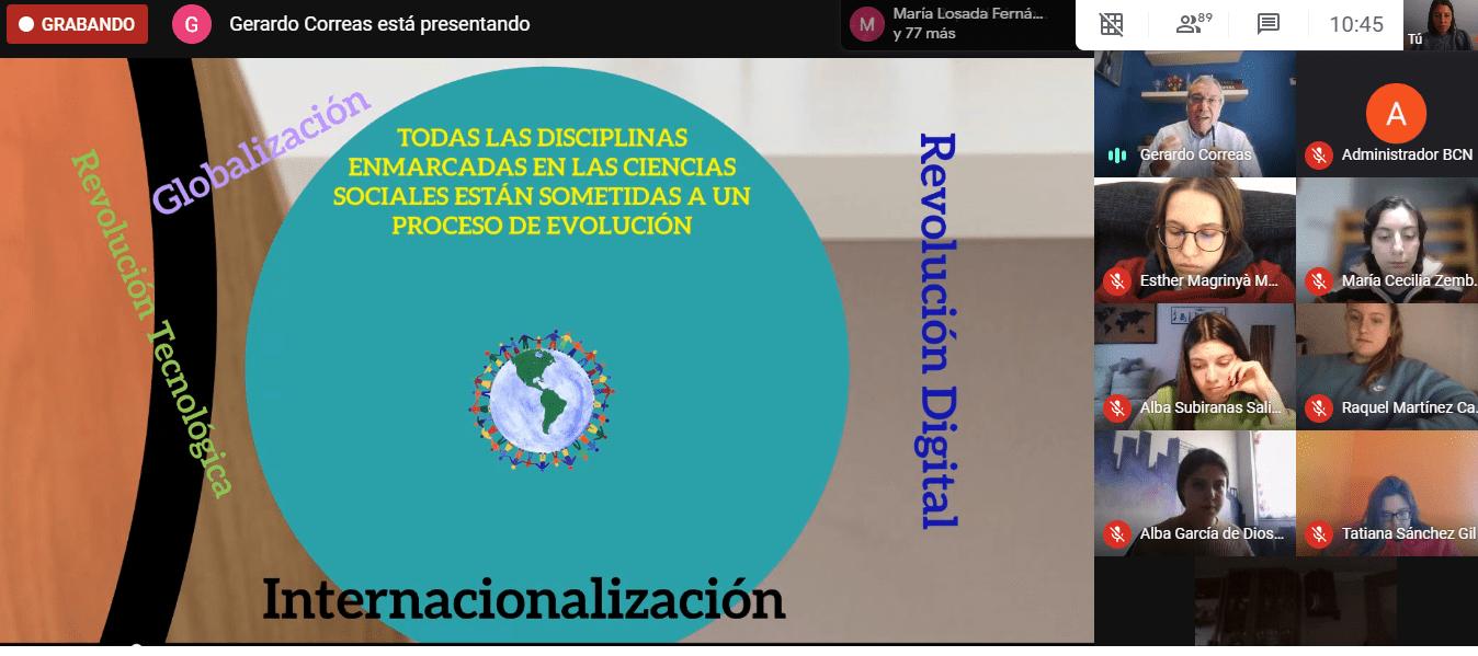 conferencia virtual Gerardo Correas