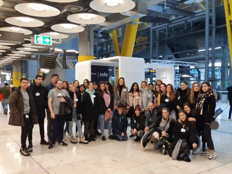 Visita al Aeropuerto Madrid-Barajas de los alumnos del CFGS de Agencias de Viaje y Gestión de Eventos