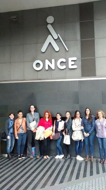 Visita de los alumnos de EIP Barcelona a la sede de la ONCE