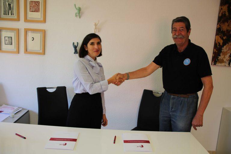 Firma convenio de colaboración EIP y Aviación Sin Fronteras