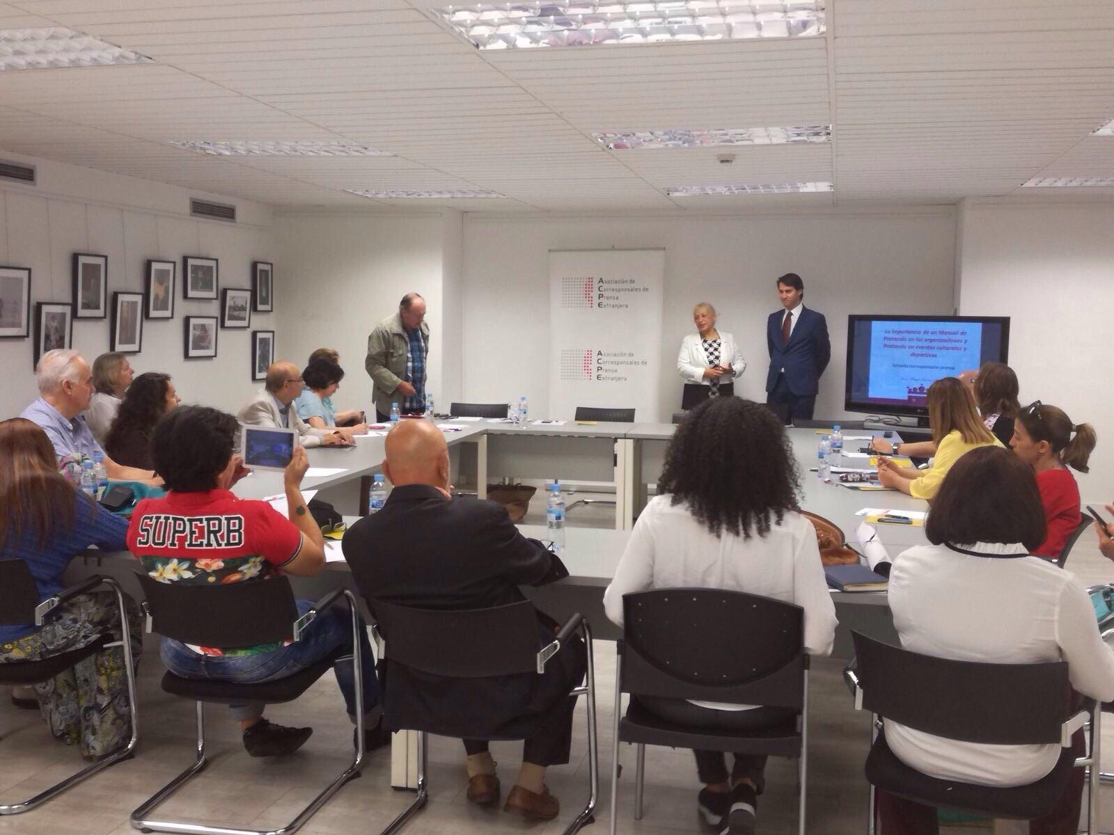 Conferencia de Juan Manuel Jiménez en el Centro Internacional de Prensa
