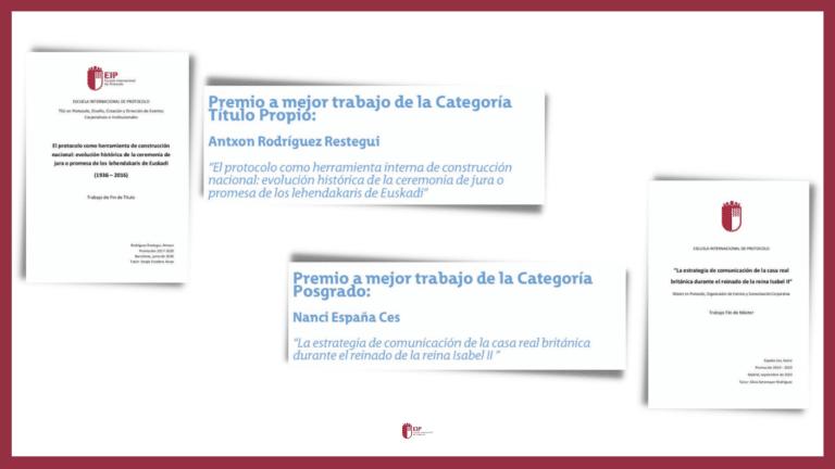 Premios Excelencia en los Estudios de Protocolo