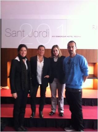 Visita alumnos Barcelona al desayuno de escritores y periodistas Sant Jordi 2012