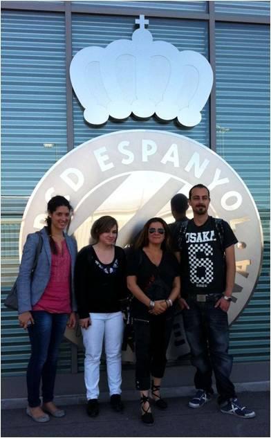 Visita de alumnos de EIP Barcelona al RCD Espanyol