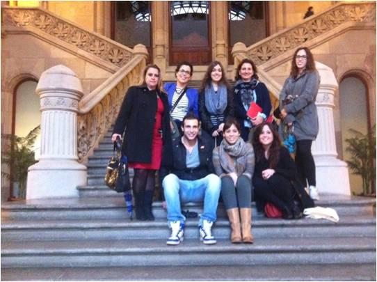 visita al Palacio de Justicia de Catalunya
