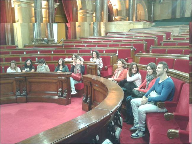 Visita de EIP Barcelona al Parlament de Catalunya