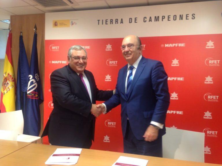 firma del convenio con la real federación española de tenis