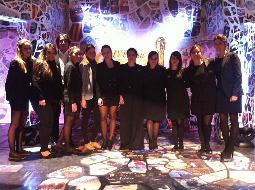 Alumnos del título universitario y el MBA de la EIP en Barcelona efectúan prácticas en los premios Gaudí del cine catalán