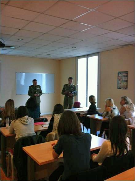 Conferencia sobre Protocolo Militar para los alumnos de la EIP de Barcelona