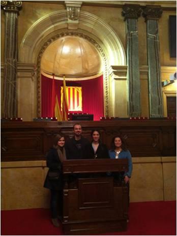 Alumnos de MBA de la EIP de Barcelona visitan el Parlament de Catalunya