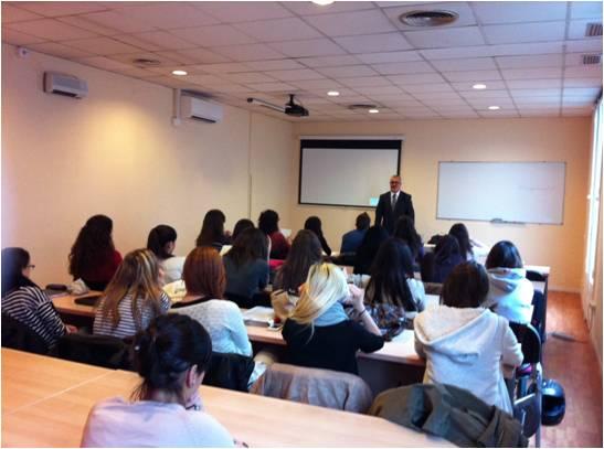 Conferencia de Ramon Pujol, director de Relaciones Institucionales y Protocolo del FC Barcelona, para los alumnos de la EIP de Barcelona