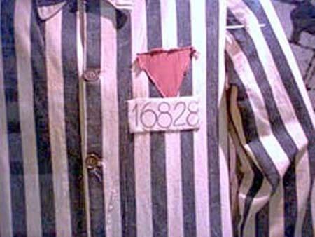 triangulo rosa invertido